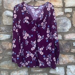 Style & Co floral top 3X
